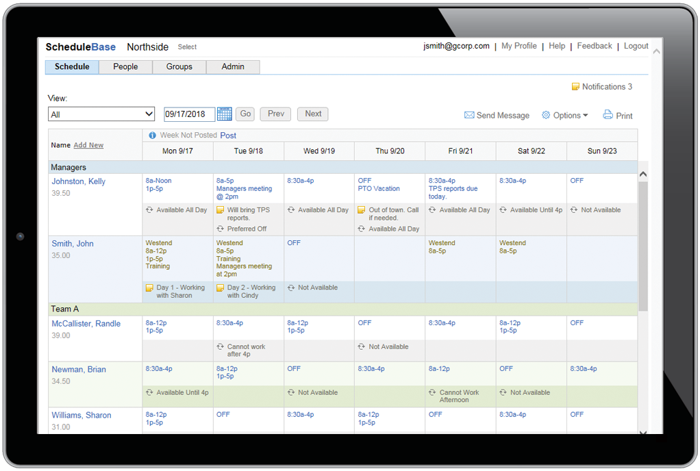 Employee Scheduling Software - Online Schedule Maker & Work Schedule