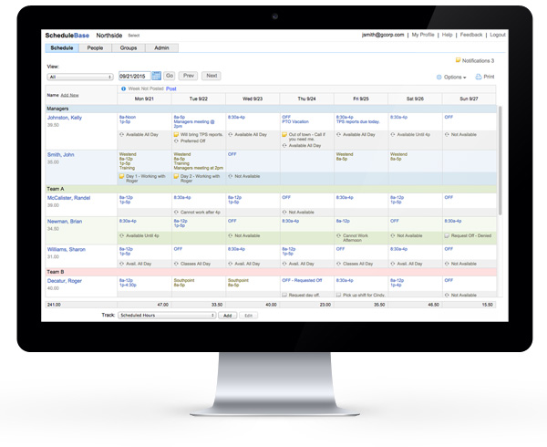 employee scheduling software for fitness centers and gyms